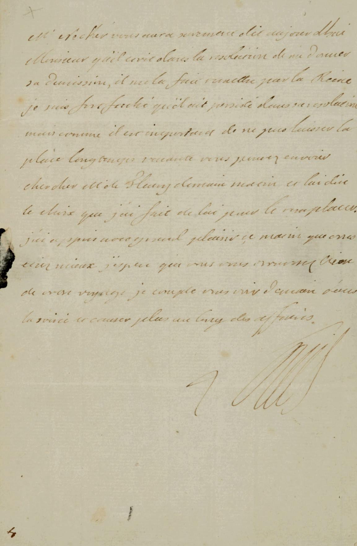 LOUIS XVI (1754-1793). Lettre autographe signée, une page in-8 (75 x 110 mm) sur un double feuillet, adressée à Jean-Frédéric Phélypeaux, comte de Maurepas, [Paris: 1781]. (Encre un peu pâle, traces de pliures, sceau royal brisé lors de l'ouverture de la lettre).