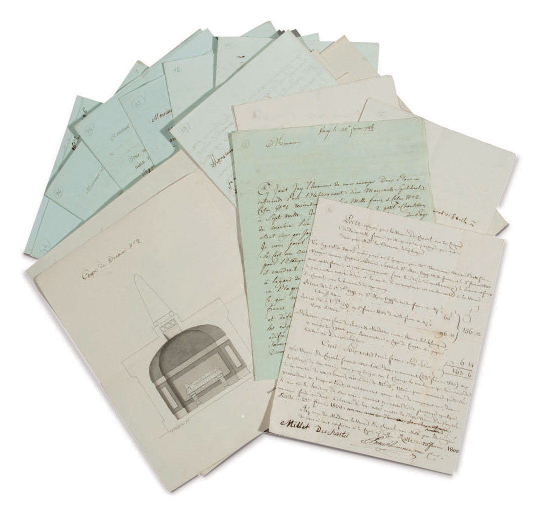 NECKER, Suzanne (1739-1794). Importante réunion de 9 lettres (3 entièrement autographes, 3 avec importants ajouts autographes, et 3 avec quelques corrections) in-8, soit au total 59 pages, 2 octobre 1785 - 16 juillet 1786.