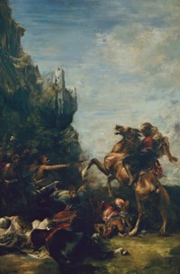 Arabes attaqués dans une gorge de montagnes