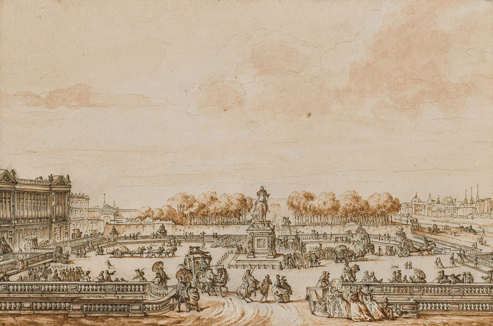 La place Louis XV en 1770