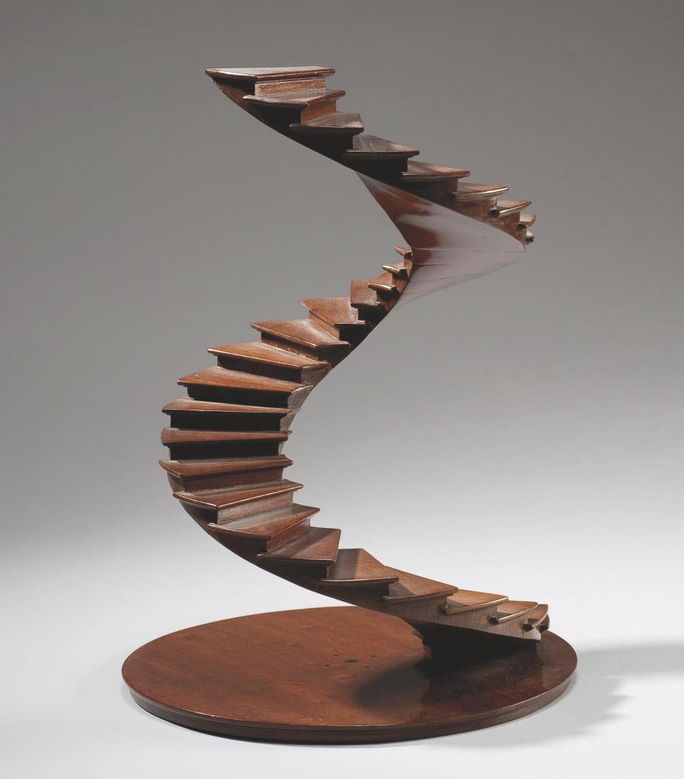 escalier en spirale de maitrise en acajou du honduras france fin du xixeme siecle christie 39 s. Black Bedroom Furniture Sets. Home Design Ideas