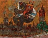 Londres et le rabbin assis
