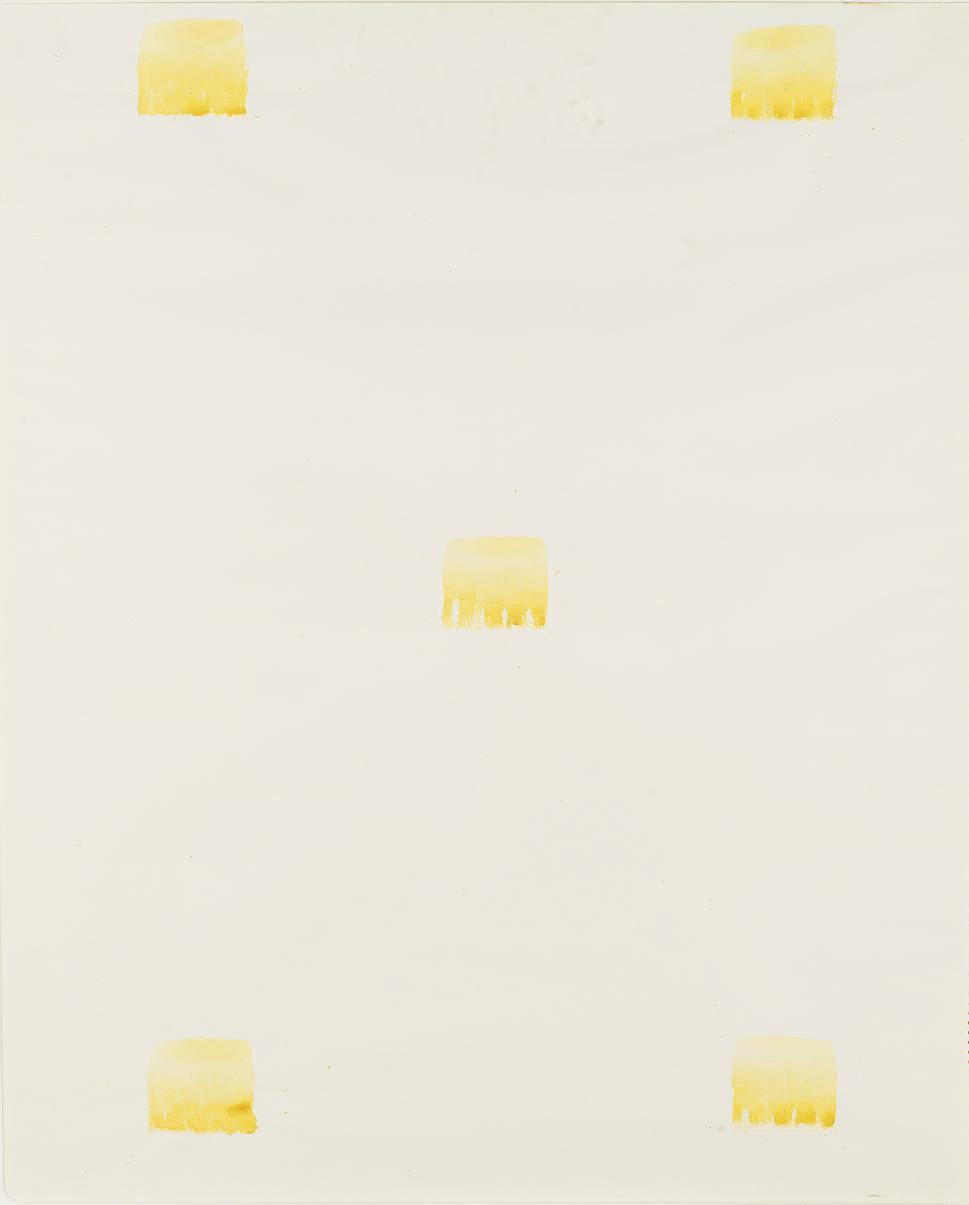 Sans titre (Empreintes de pinceau No. 50 répétées à intervalles réguliers de 30 cm.)