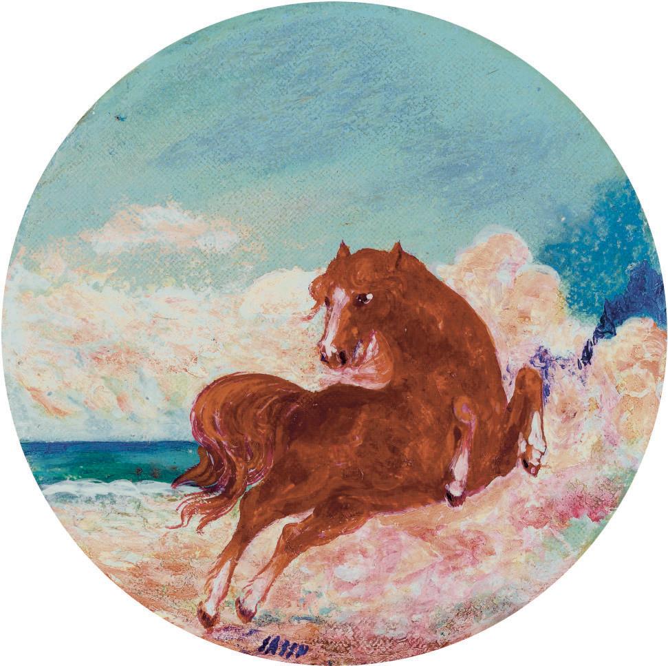 Il rosso cavallo impennato