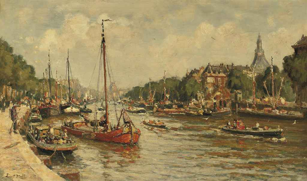 A view of the Leuvehaven, Rotterdam