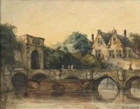 A walk on a bridge in Ghent