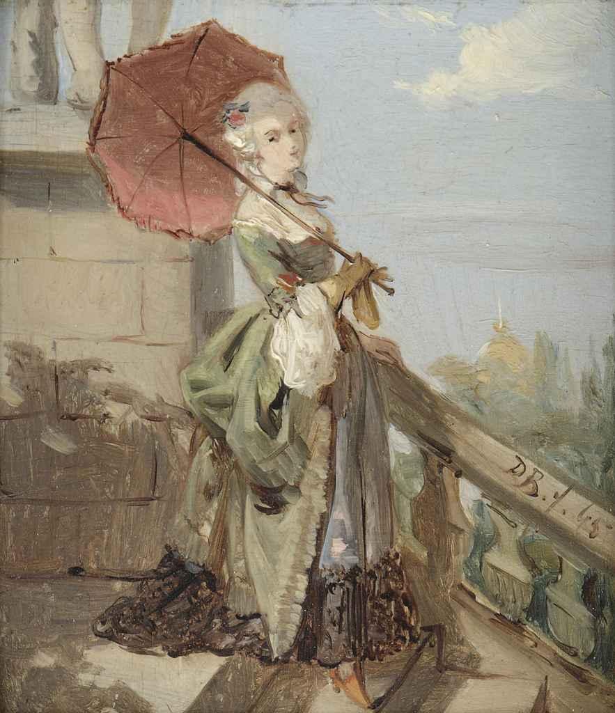 Femme avec parasol