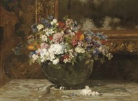 A colourful summer bouquet