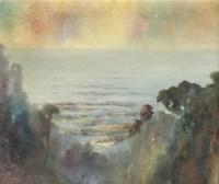Indonesian landscape at dusk