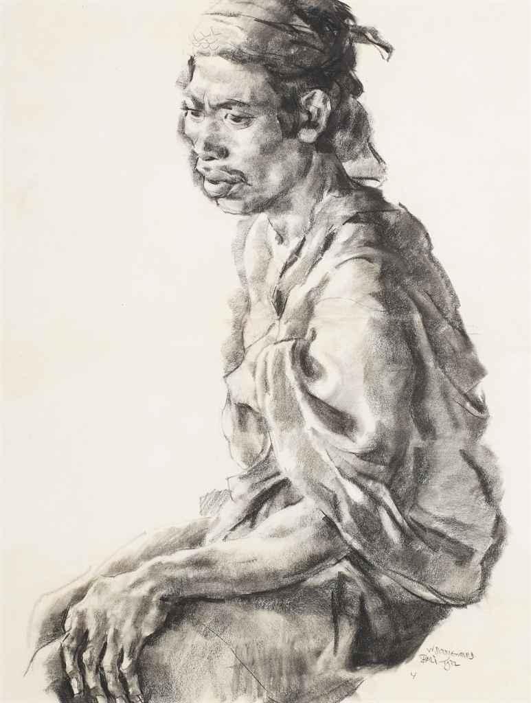 Seated Balinese man