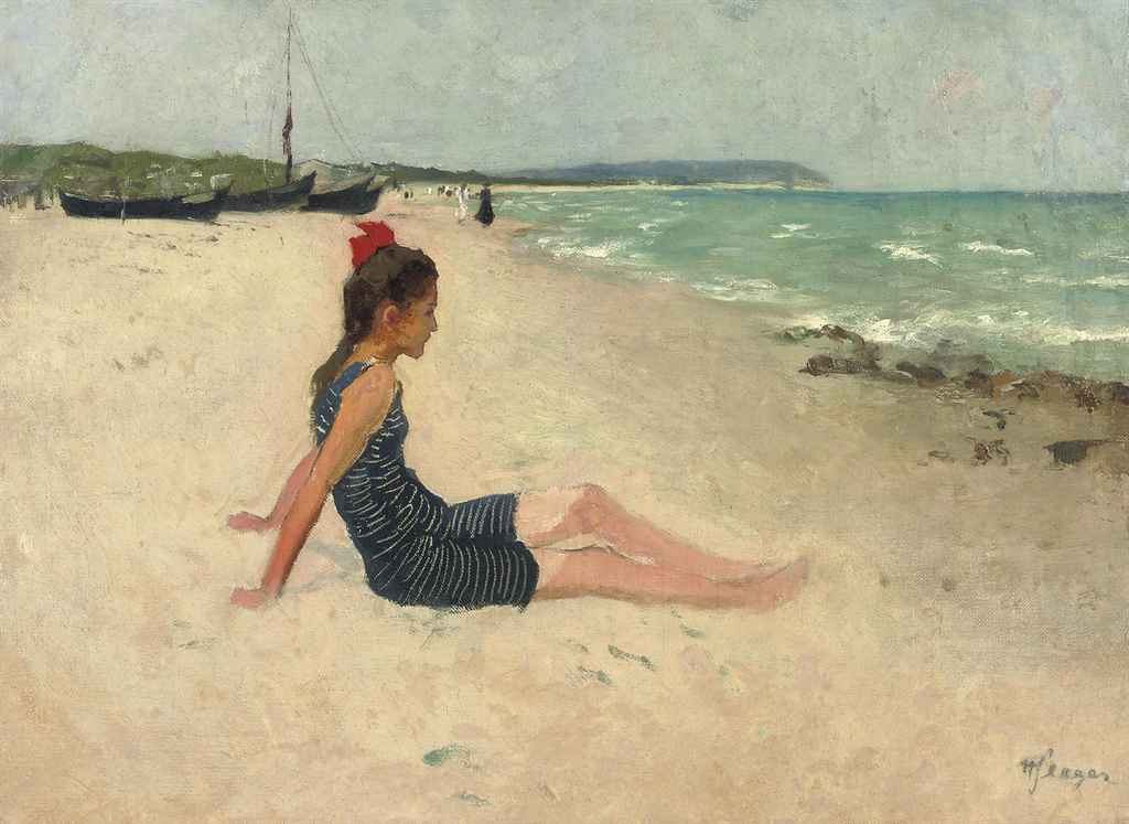A girl on the beach