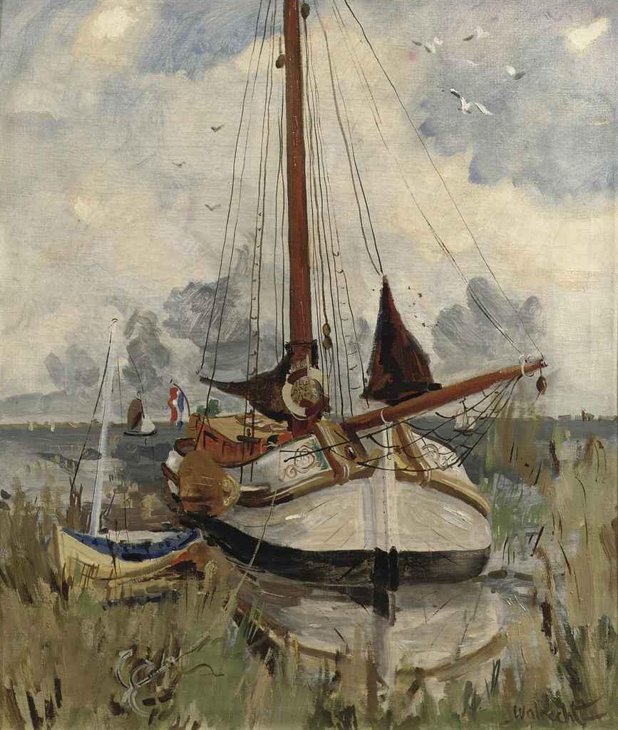 A moored Lemsteraak