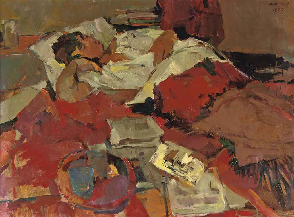 Annelies, slapend: the wife of the artist sleeping