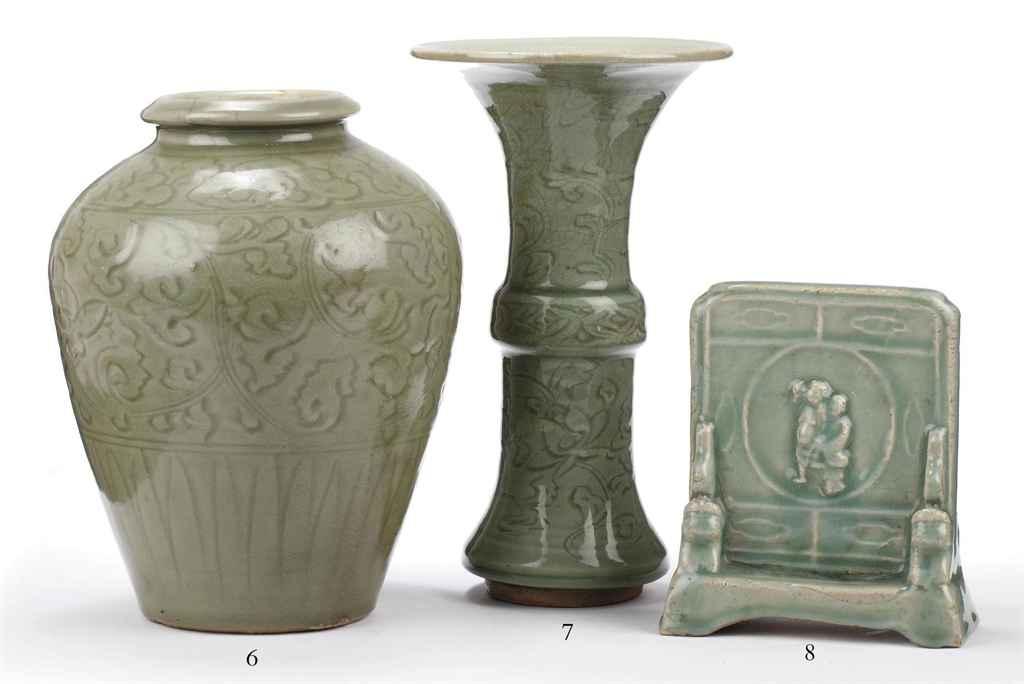 A Chinese Celadon Beaker Vase Gu Ming Dynasty 16th 17th Century
