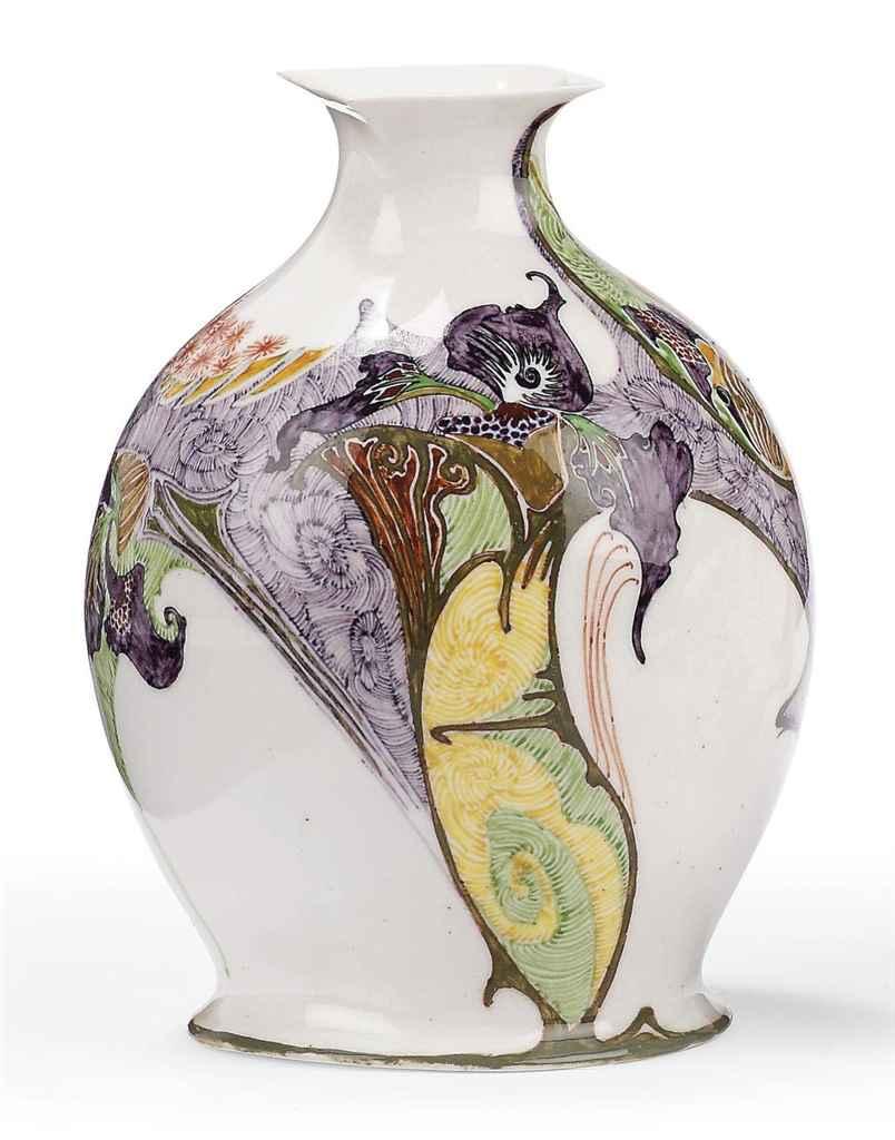 A Dutch miniature egg-shell porcelain vase