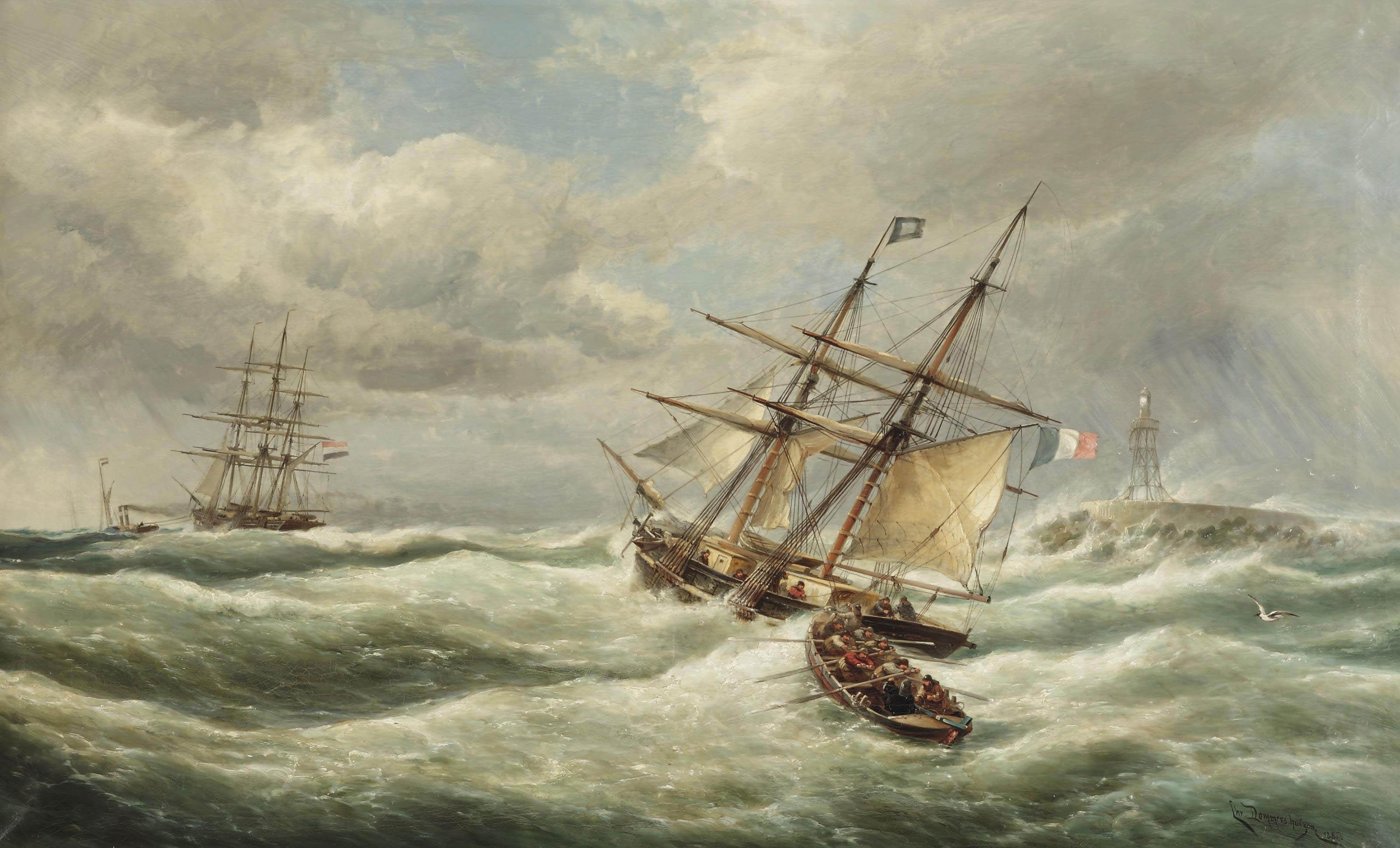 'Temps Orageux, L'entrèe du Port L'IJmuiden'