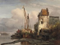 Unloading the cargo at the quay