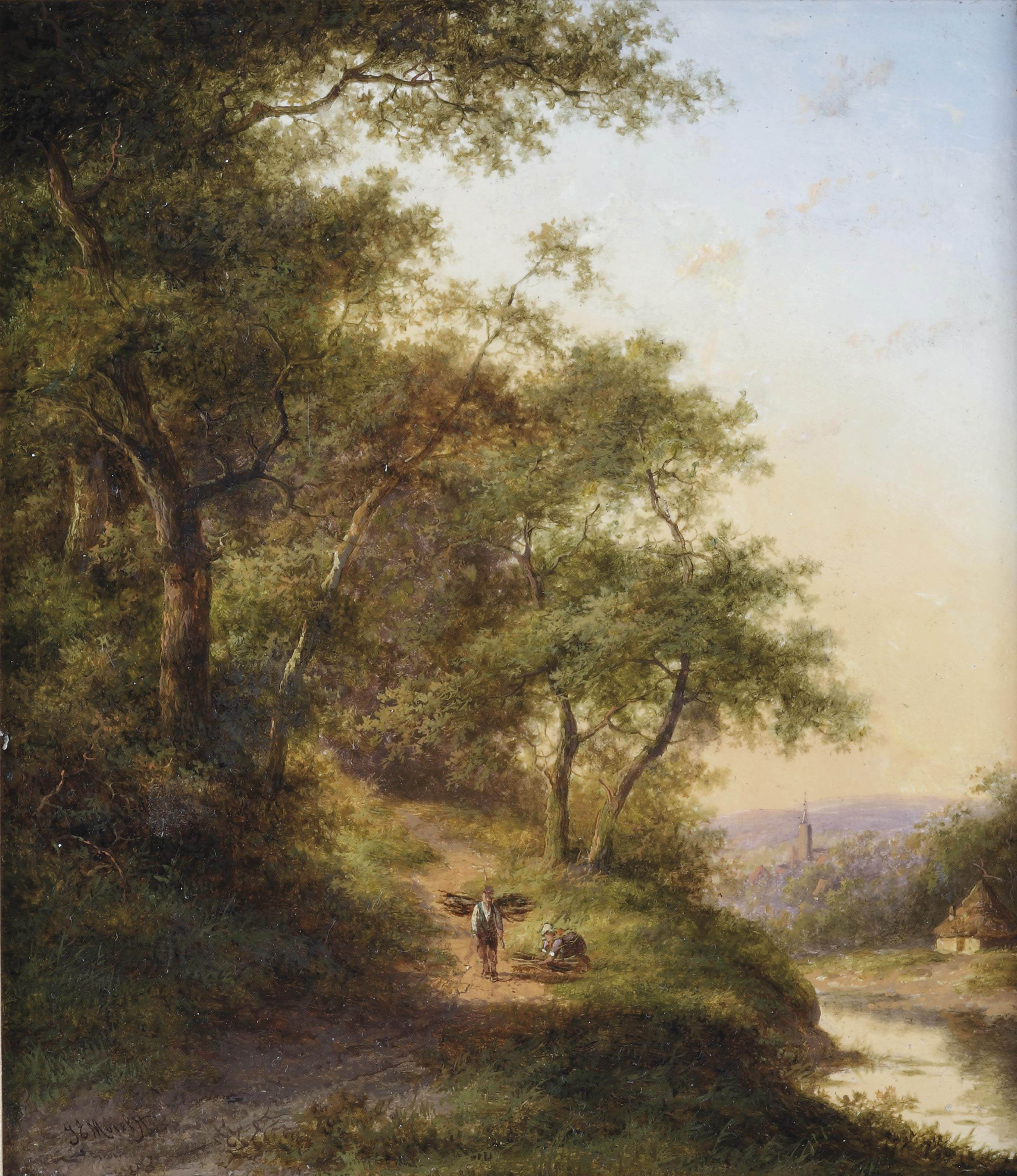 The wood gatherers near a river