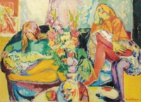 Girls on a sofa