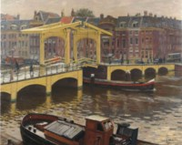 A view of the Magere Brug, Amsterdam