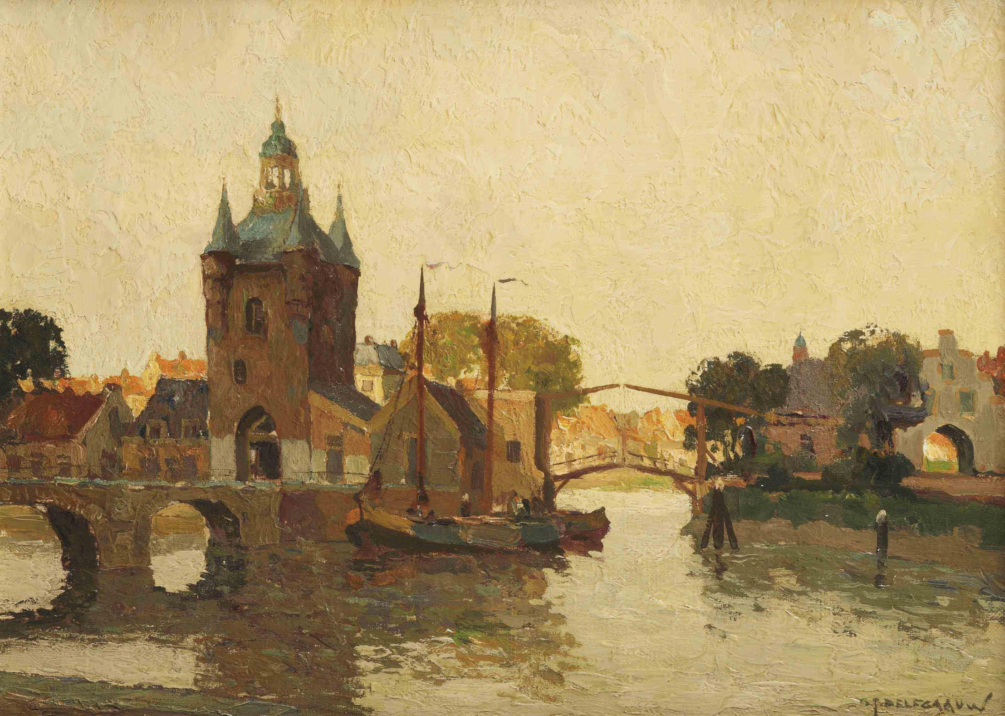 A view of the Zuidhavenpoort, Zierikzee
