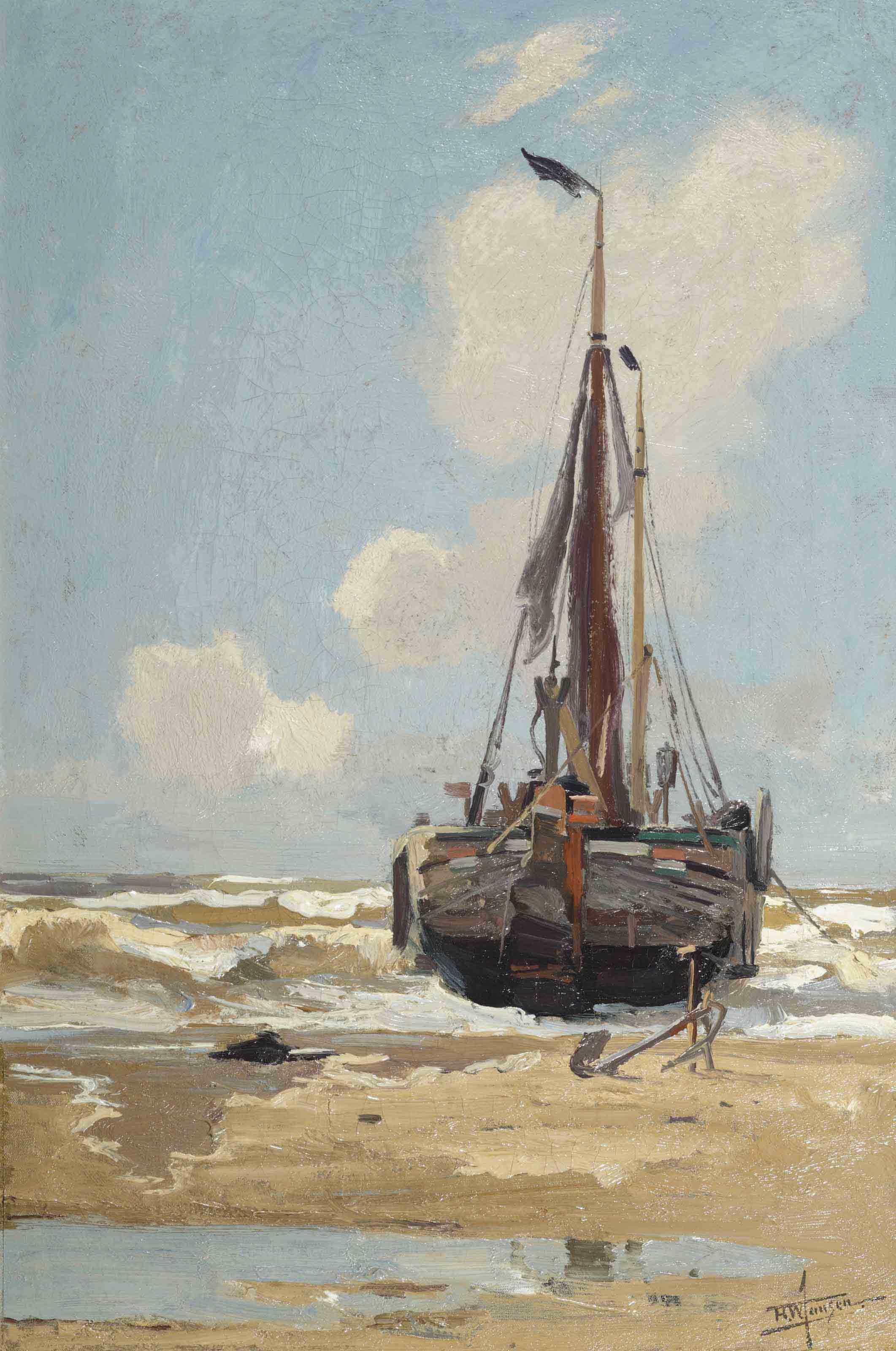 A moored fishingvessel