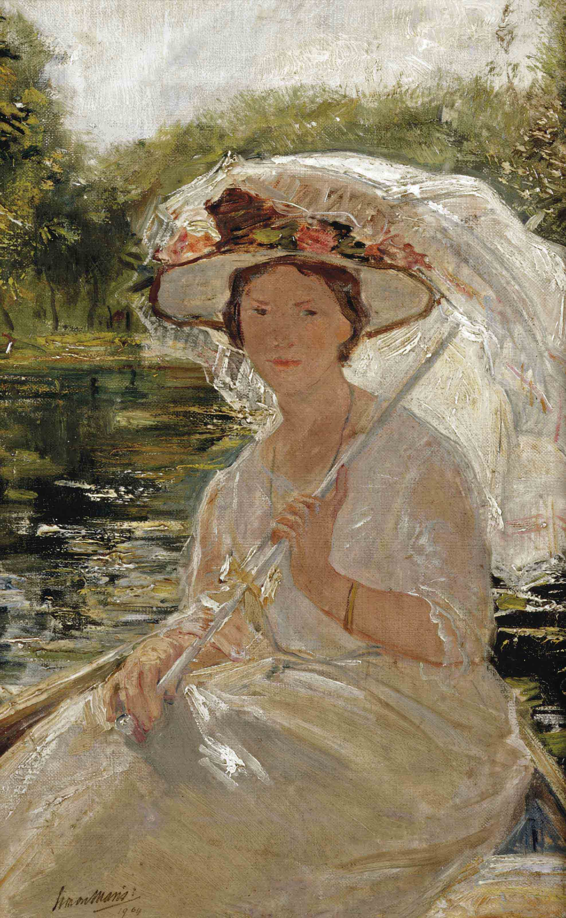 Elegant woman with an umbrella