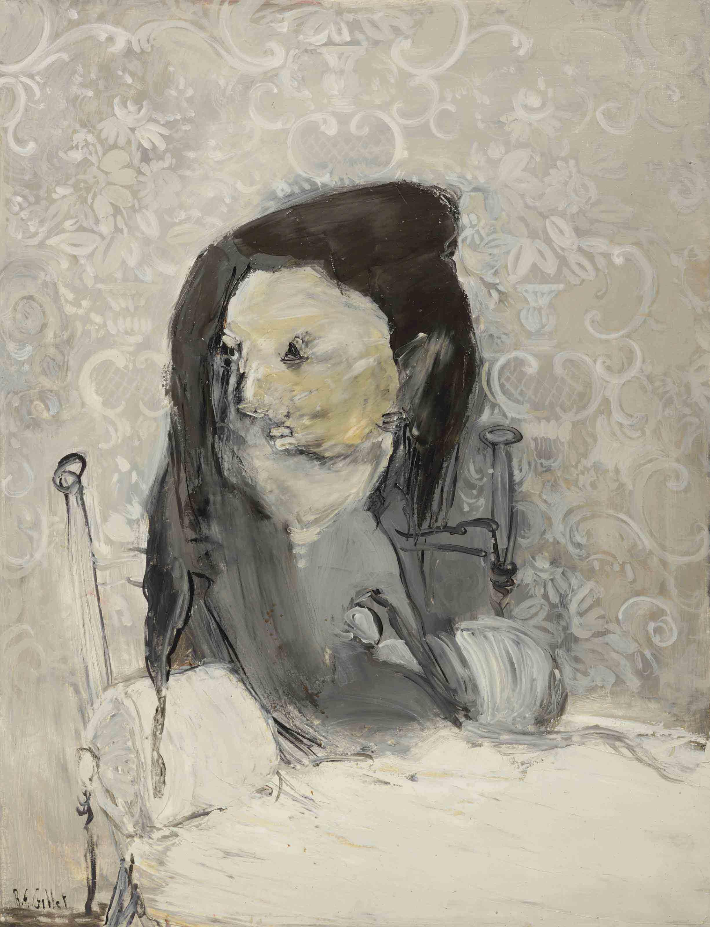 La femme grise (La veuve)