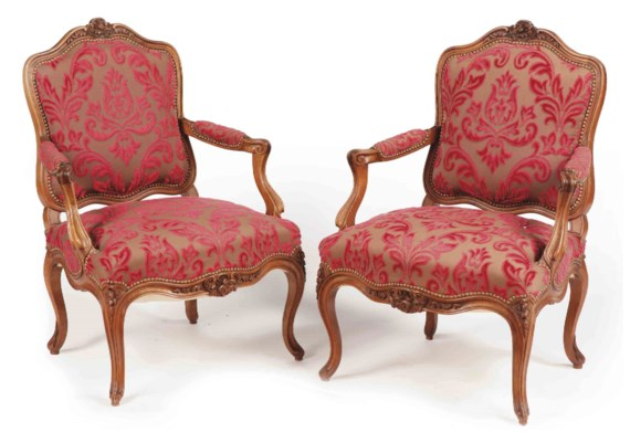 haircut chair a suite of walnut seat furniture of louis xv 2868