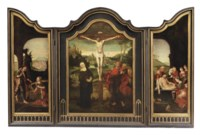 A triptych: Noli me tangere, The Crucifixion and The Entombment