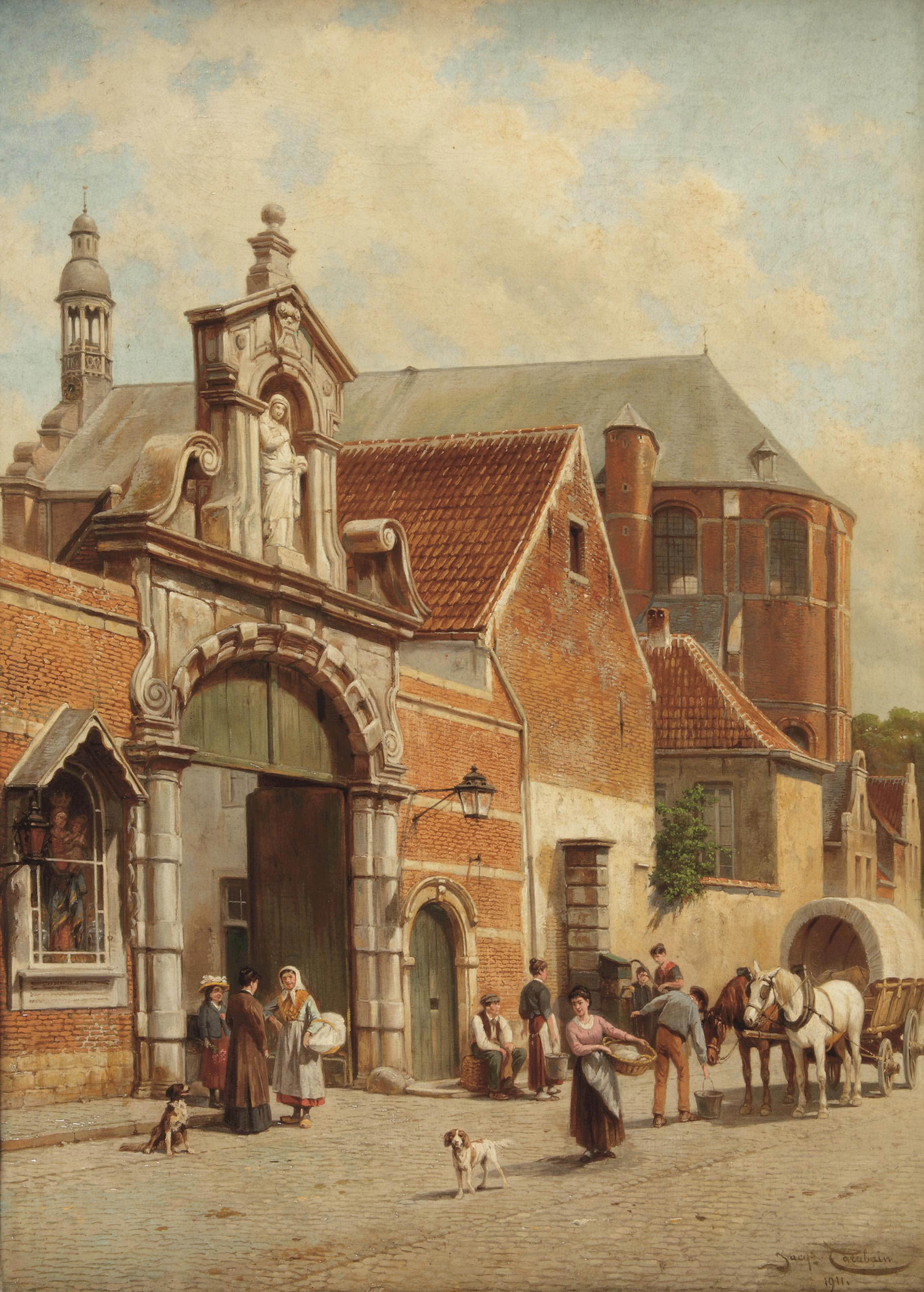 The port of the Béguinage in Lier, Belgium