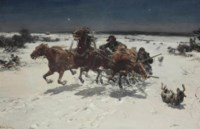 Wolves in pursuit