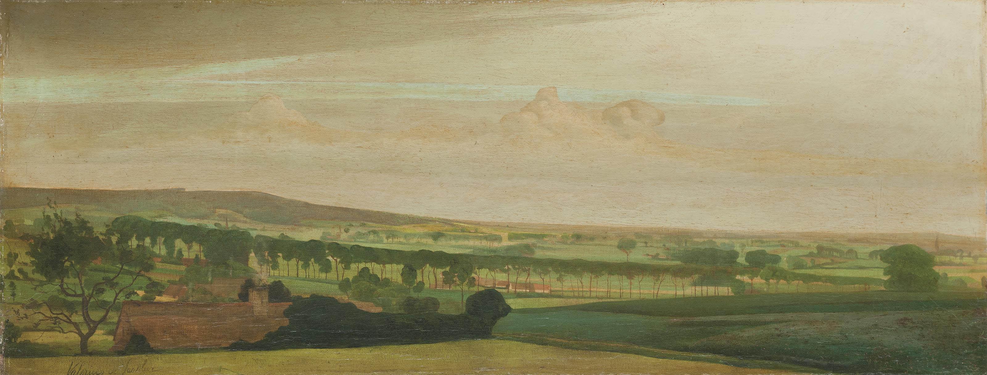 A panorama view of Tiegem