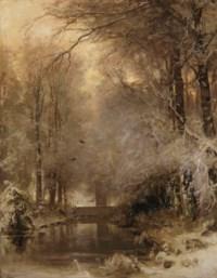 Achter het buiten; a forest in winter