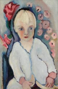 Portrait of a child in white