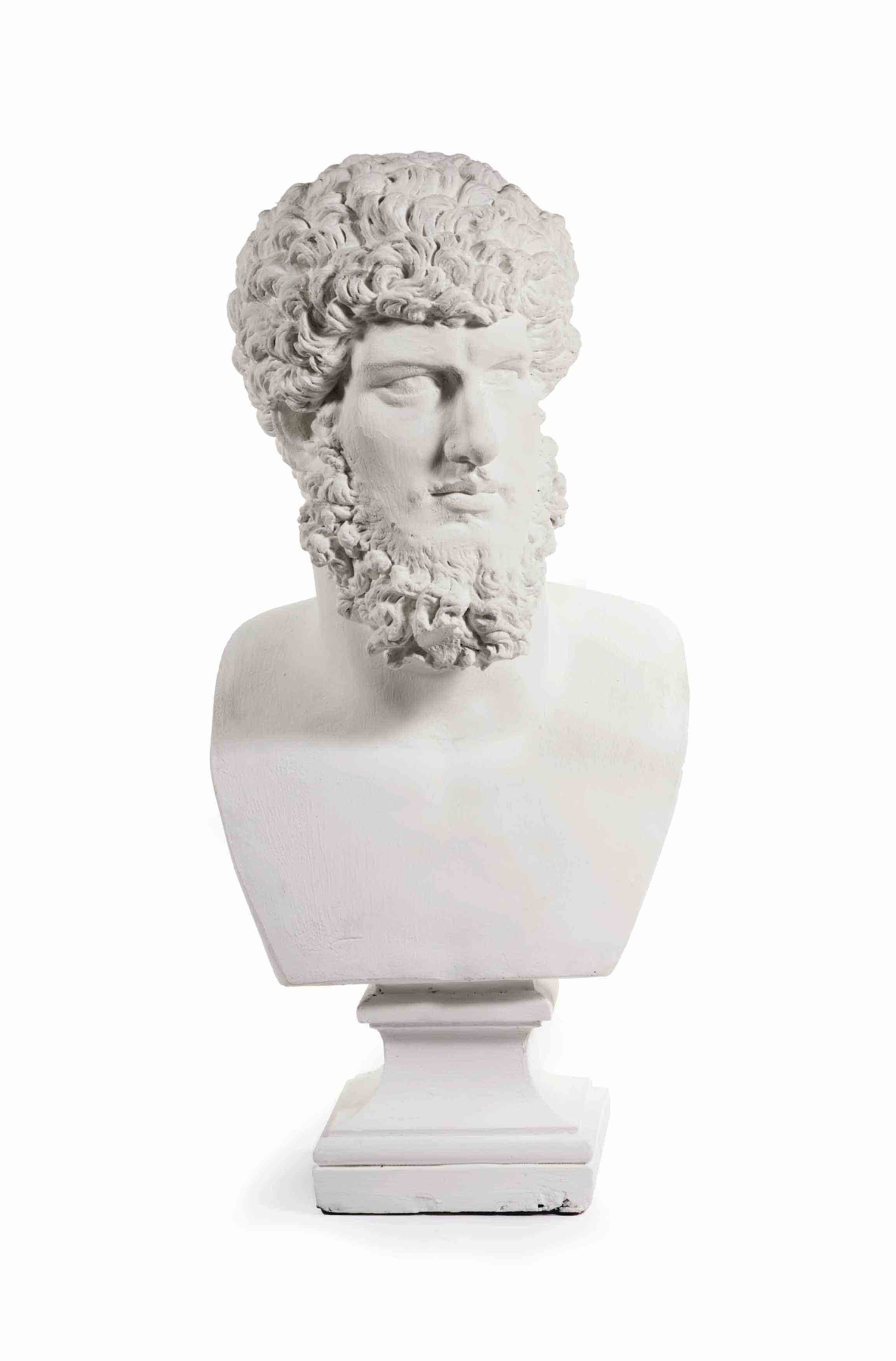 A GESSO BUST OF THE ROMAN EMPE