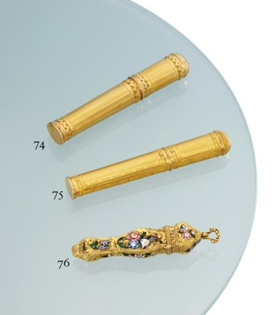 A GEORGE II GOLD AND ENAMEL ET