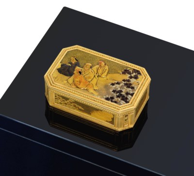 A LOUIS XVI GOLD-LINED JAPANES