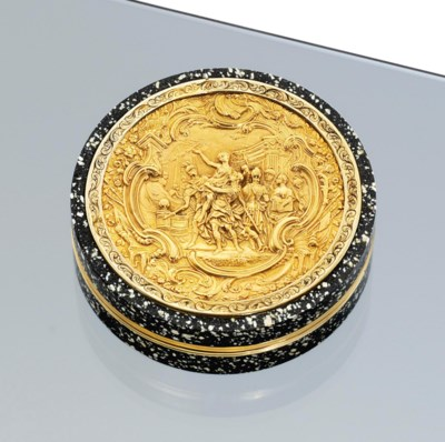 AN ITALIAN GOLD-MOUNTED HARDST