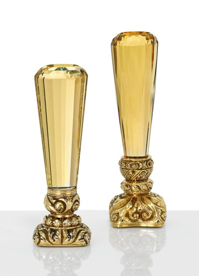 A PAIR OF VICTORIAN GOLD-MOUNT