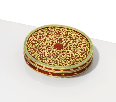 A CONTINENTAL ENAMELLED GOLD-M