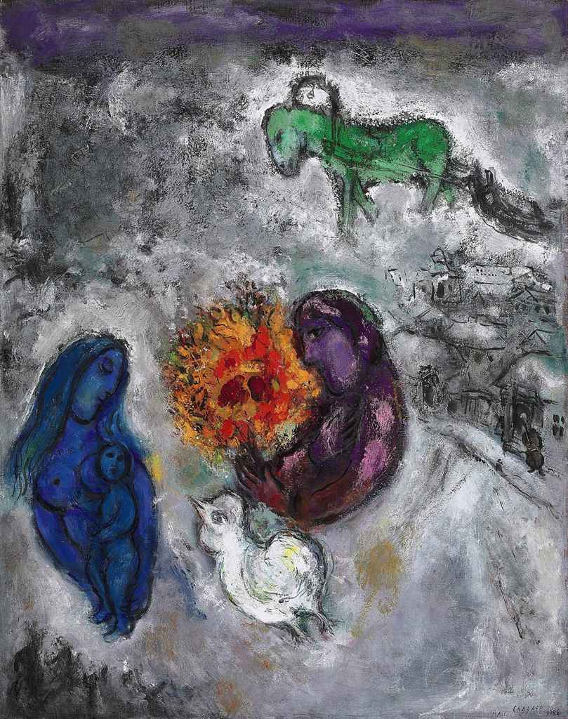 Marc Chagall 1887 1985 Le Cheval Vert 1950s Paintings