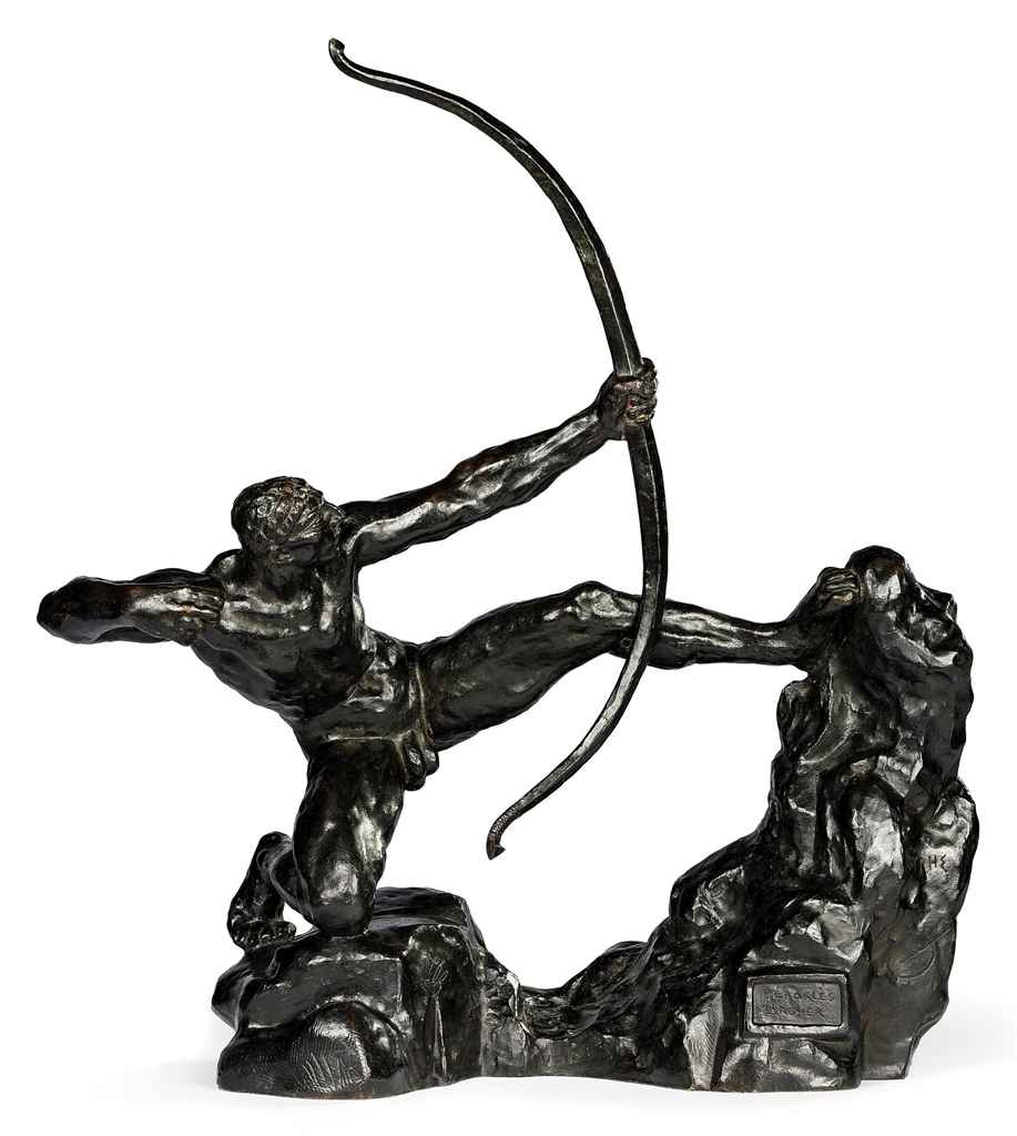 Héraklès archer, huitième étude dite modèle intermédiaire définitif