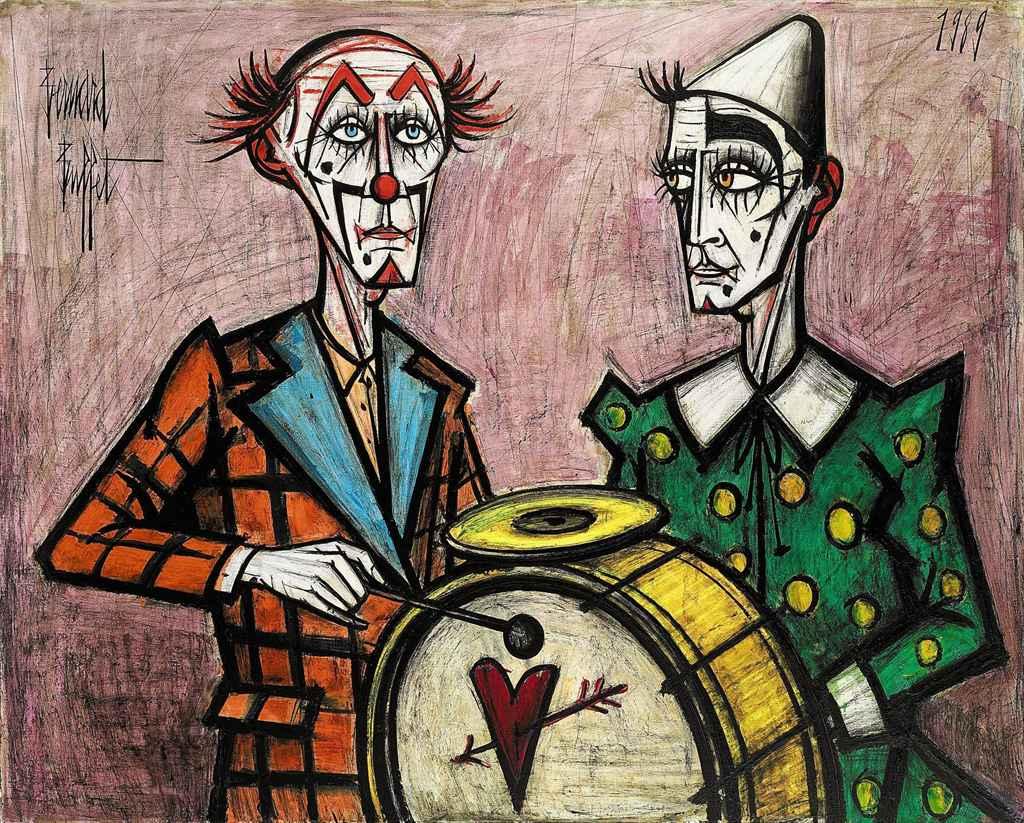 Deux clowns à la grosse caisse