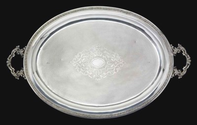 A LARGE OTTOMAN SILVER TRAY
