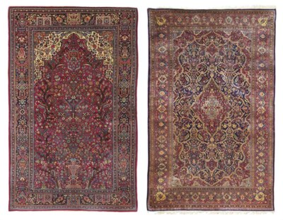 A DOUBLE-SIDED SILK AND WOOL K