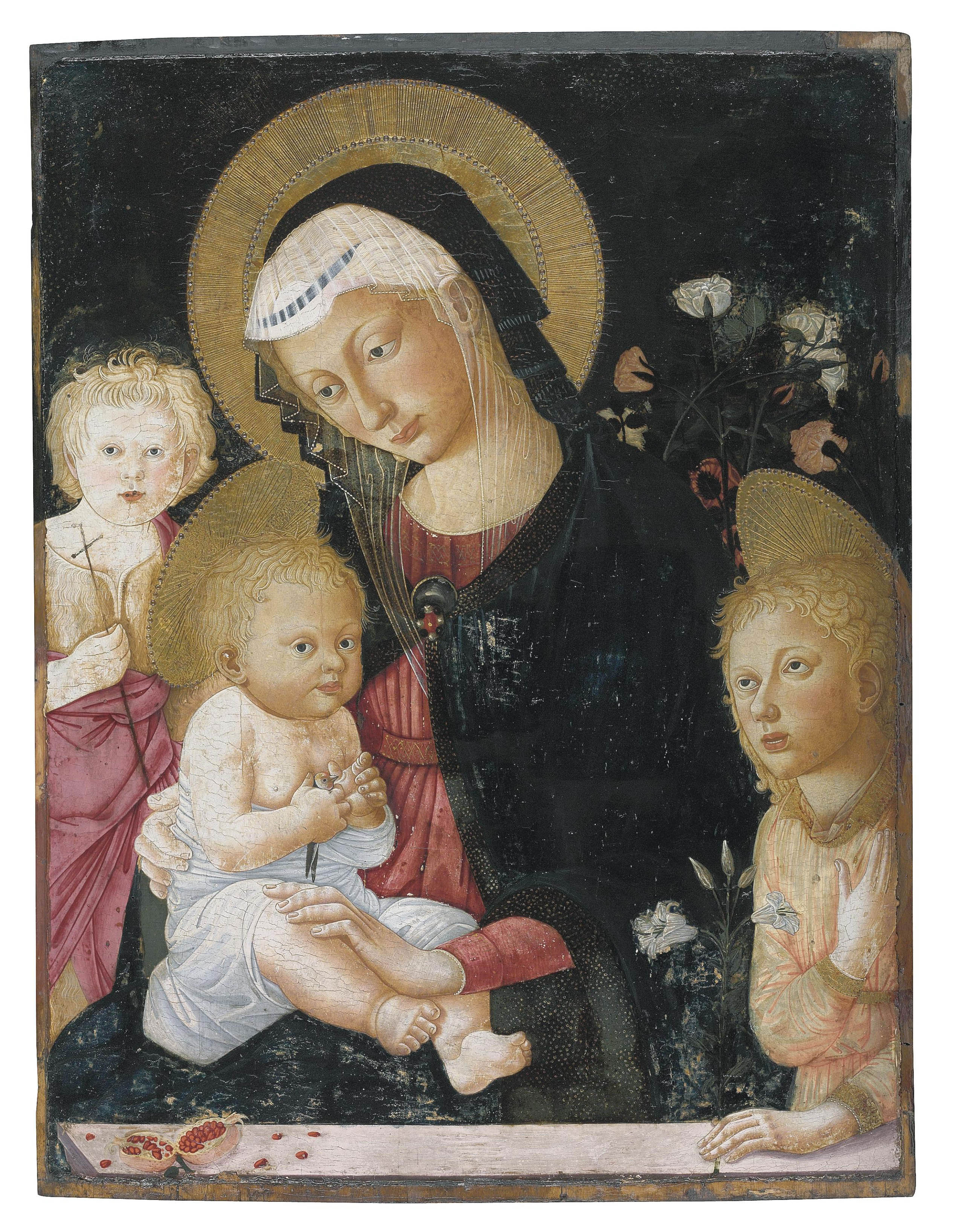The Madonna and Child with a goldfinch, with the Infant Saint John the Baptist and an Angel
