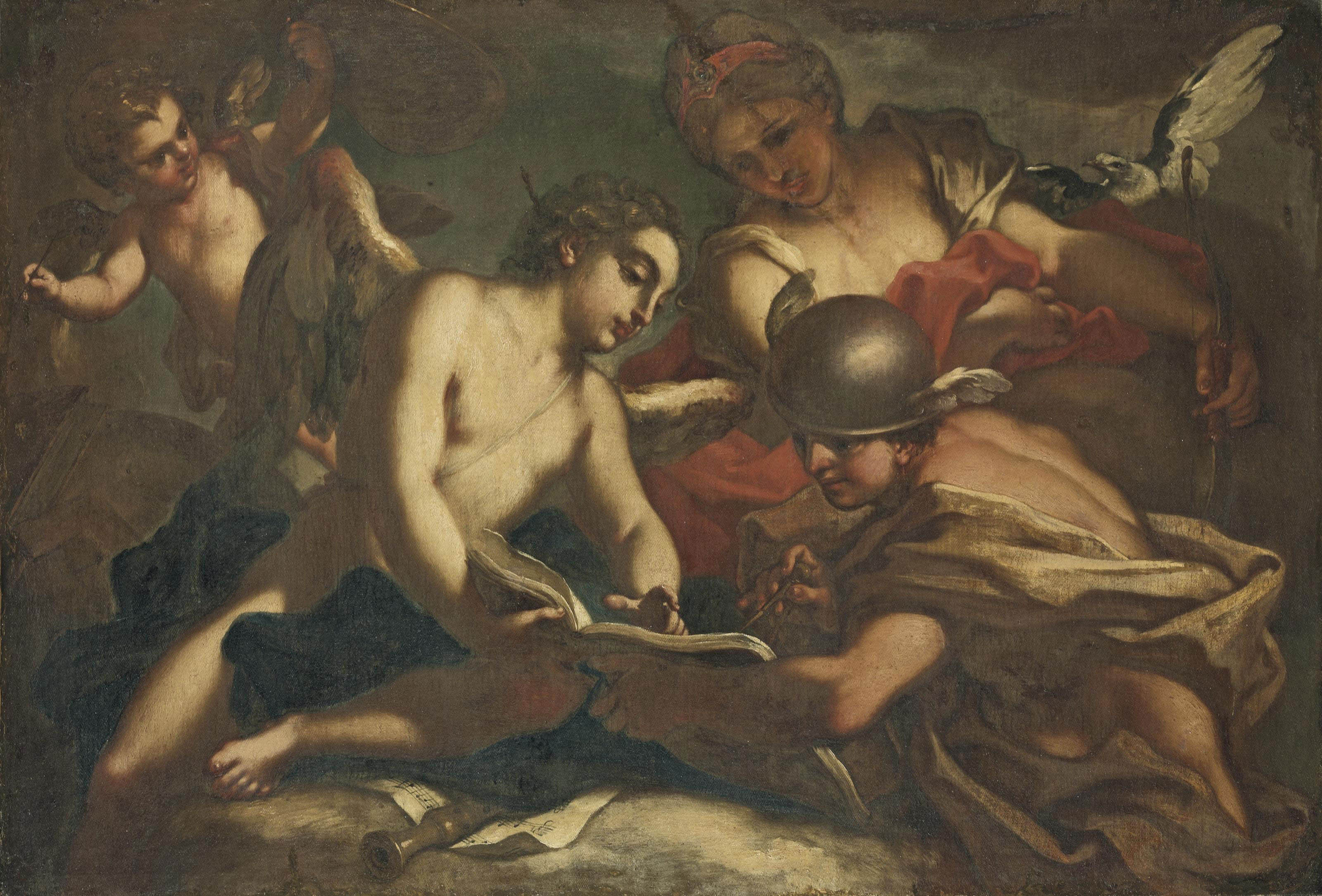 Mercury instructing Cupid in the Arts