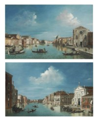 The Grand Canal, Venice, looking north-east from Santa Croce to San Geremia; and The Grand Canal, Venice, looking south-east, from San Stae to the Fabbriche Nuove di Rialto