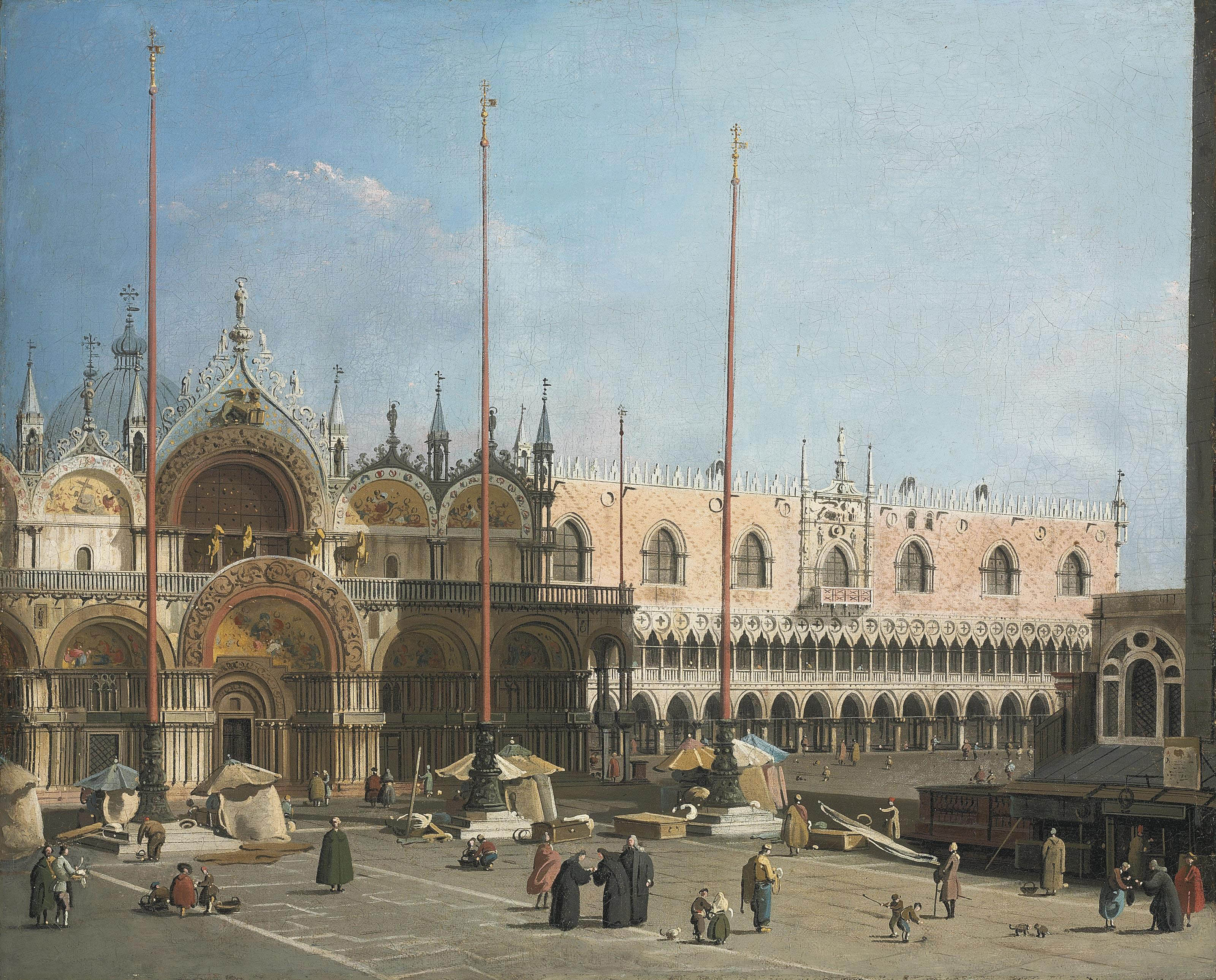 The Piazza San Marco, Venice, looking east towards the Basilica and the Doge's Palace